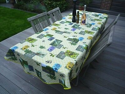 £22.71 • Buy Tablecloth Provence Non-Iron 150x240 CM Oval Olivenmotive Green From France