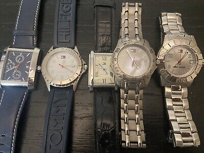 $ CDN26.11 • Buy Tommy Hilfiger Watch Lot Mens Chronograph Leather Blue Rubber No Battery