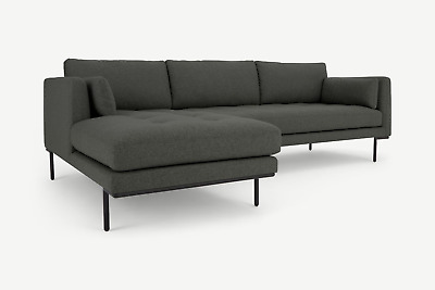 £699.99 • Buy MADE.com Harlow Left Hand Chaise End Corner Sofa In Hudson Grey - RRP £999