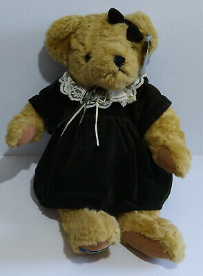 £18.95 • Buy The Traditional Bear Collection Jointed Bear With Green Dress - Please Read.