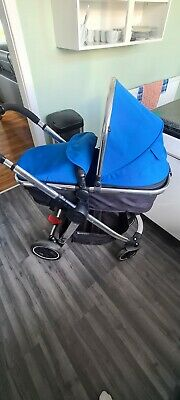 £80 • Buy Mothercare 3 In 1 Blue Baby Travel System, Carrycot Pushchair,stroller,car Seat
