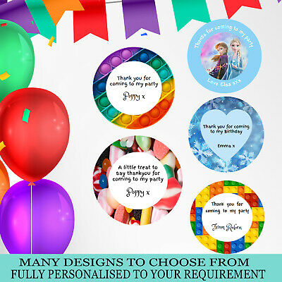 £3.49 • Buy 2x Round Personalised Birthday Stickers Labels Thank You For Coming To My Party