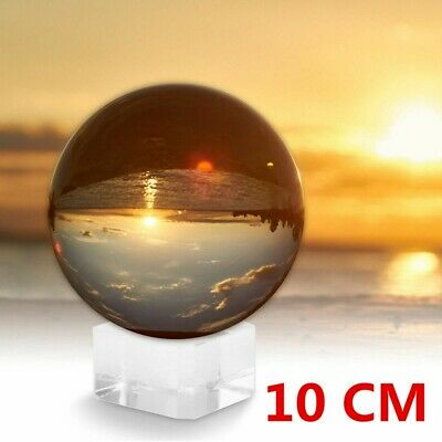 £9.69 • Buy Clear Crystal Ball Magic Healing Meditate Sphere Photography 100mm + Stand UK