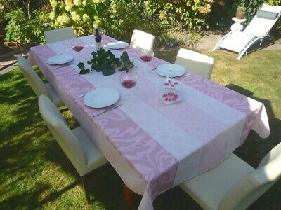 £26.50 • Buy Tablecloth Provence 150x300 CM Pink Flowers From France Easy-Care Non-Iron