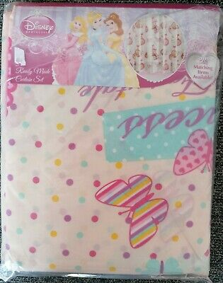 £14.95 • Buy Disney Princess Curtains 66  X 72  Pink Girls Bedroom Spotty Unlined
