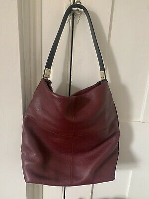 £7.50 • Buy Marks And Spencer M&S Autograph Real Leather Handbag Bag Burgundy Red RRP£99 New