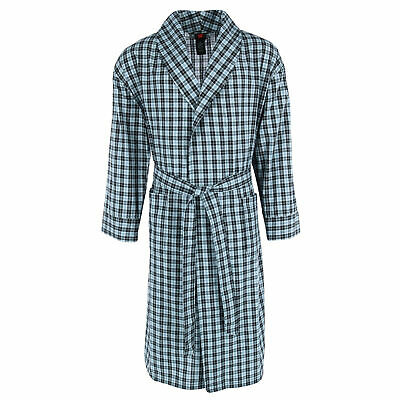 $40.94 • Buy New Hanes Men's Cotton Flannel Robe With Pockets