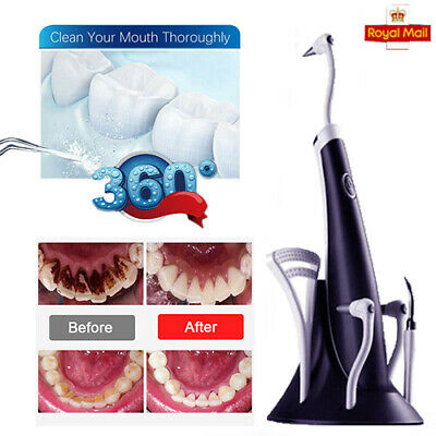 £10.95 • Buy Electric Sonic Dental Tooth Stain Polisher Teeth Whitener Plaque Eraser Remover