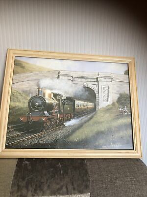 £14.99 • Buy Steam Train Picture  Sir Nigel Gresley  By Barry Price   994 Framed Signed