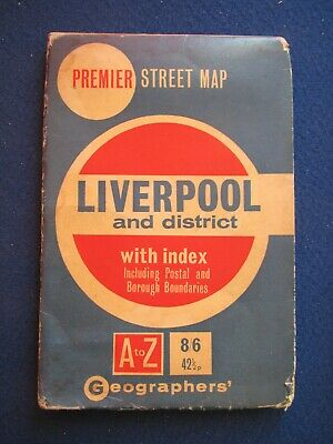 £9.95 • Buy Geographers Street Map - Liverpool & District  With Index  C1971
