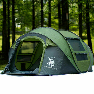 AU129 • Buy Outdoor Instant Pop Up Camping Tent 3~4 Person Man Family Hiking Tents AU