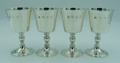 £599.97 • Buy Set Of 4 Solid Silver Charles II Style Goblets (17th Century Wine Cups) - 698g