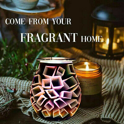 £13.19 • Buy 3D Electric Glass Light  Wax Warmer  Aroma Touch Night Light Oil Burner Diffuser
