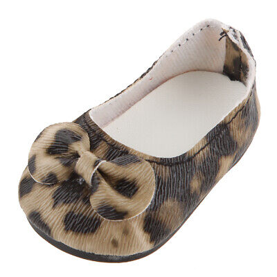 £3.67 • Buy Leopard Print Bow Dress Shoes Made For 18  AG American Doll Doll Clothes Accs