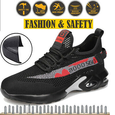 £24.99 • Buy Womens Safety Shoes Trainers Work Shoes Steel Toe Cap Running Hiking Boots Size