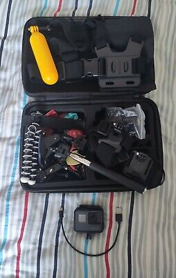 AU377.34 • Buy GoPro Hero 6 Black Action Camera With Huge Accessories Bundle Attachments Case.