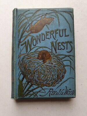 £25 • Buy Wonderful Nests - From  Homes Without Hands  - Rev. J. G. Wood - 1892 HB