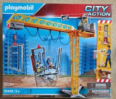 £65 • Buy Playmobil 70441 - City Action Construction Crane With Remote Control- NEW Sealed