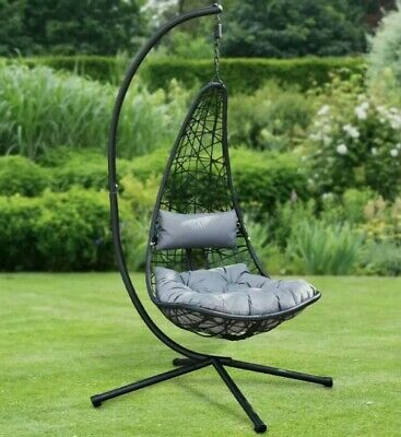 £267.99 • Buy ⚡ New York Hanging Egg Chair With Stand & Cushion BRAND NEW  FREE Delivery ✅✅✅