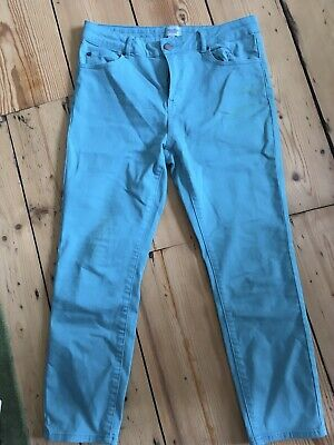 £7.99 • Buy White Stuff Slim Blue Cropped Summer Trousers Size 12