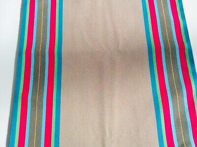 £10 • Buy Deckchair Canvas, Esme, Taupe And Raspberry Stripes, Heavy Duty, Per Meter