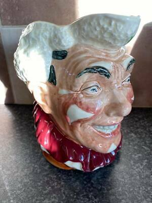 £414.95 • Buy Vintage Royal Doulton D6322 White Haired Clown Toby Character Jug Ex Con