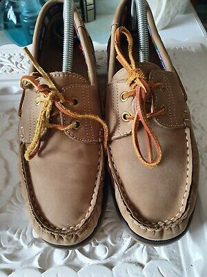 £15 • Buy Rockport On The Road Lace Up Tan Leather Moccasin Shoes Size 42 8 Fab Cond