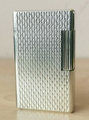 £2.30 • Buy EXTREMELY RARE S. T. Dupont Lighter Ligne Line 1 Large Silver With Box An Papers