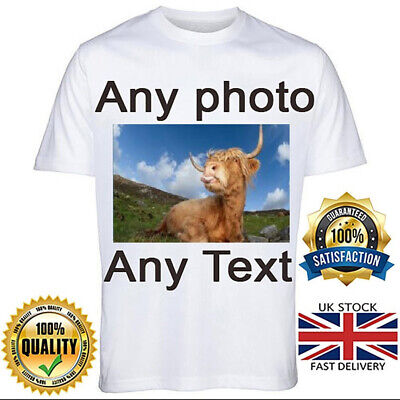 £6.99 • Buy Personalised T Shirt Custom Photo Your Image Text Here Printed Stag Do Hen Party