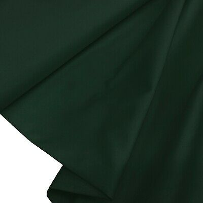 £10.99 • Buy Bottle Green Cotton Twill Fabric 60  Crafts Dress Clothing Clearance Per Metre