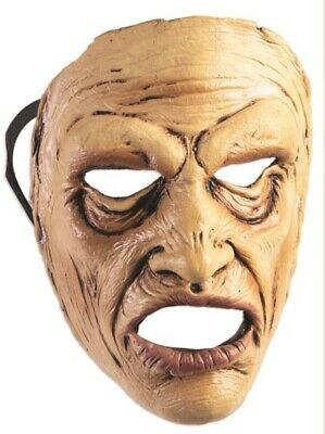 $ CDN11.25 • Buy Wow Man Frontal Face Mask Scary Old In Pain Halloween Adult Costume Accessory