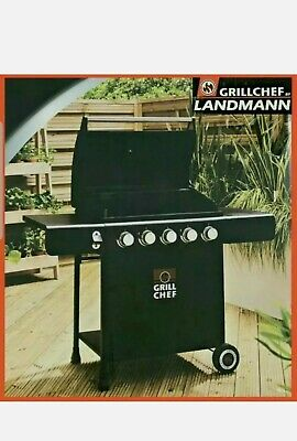 £288.99 • Buy 🔥LandMann Grill Chef 5 Burner Gas BBQ + Cover 🔥 Garden BBQ ☀️ FREE Delivery 🚚