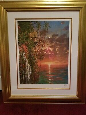 £10.62 • Buy Beach Sunset-Mavrovich:I Think Of You This Time Each Day-Seriolithograph Unframe