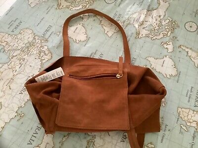£10 • Buy Tan Suede Type Leather Tote Bag