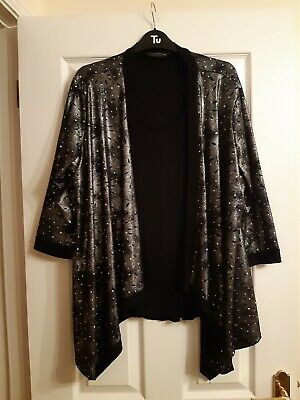 £4.99 • Buy Forever By Michael Gold Silver Sparkly Waterfall Elegant Top Size XXL