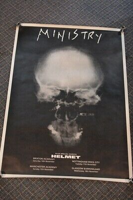 $149.99 • Buy Vintage 1990's MINISTRY CONCERT POSTER Rock Metal Band 33x24 W/ FREE SHIPPING