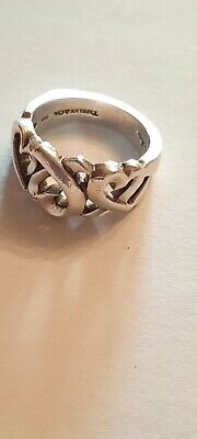 £89 • Buy Tiffany & Co Paloma Picasso Loving Heart Silver Ring Size US 4 Small  Lovely...