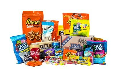 £18.95 • Buy American Candy Gift Box Mystery Hamper USA Sweets Drinks Snacks Chocolate -Small