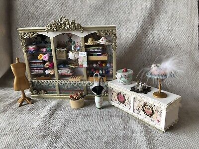 £55 • Buy Dolls House 1/12 Scale Haberdashery Job Lot With Counter And Lots Of Accessories