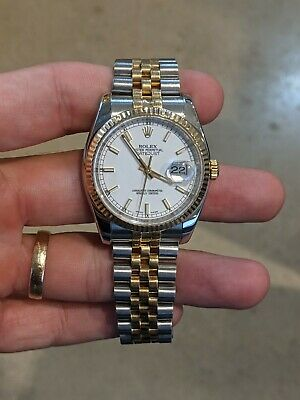 $ CDN9013.57 • Buy Rolex Datejust 36mm 116233 Stainless/Yellow Gold White Index Dial Bracelet Watch