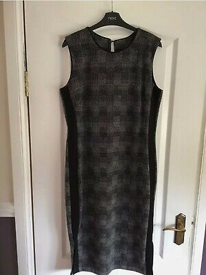 £14.99 • Buy Next Size 14 Black/Grey Checked Wiggle Pencil Dress- Brand New With Tags