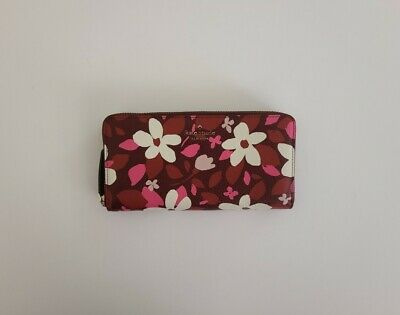 $ CDN95.94 • Buy Kate Spade Multi-color Clutch Young Lane Lacey Pvc Floral Zip Around Wallet