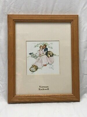 $ CDN24.35 • Buy Norman Rockwell Framed Print Family With Dog At Picnic