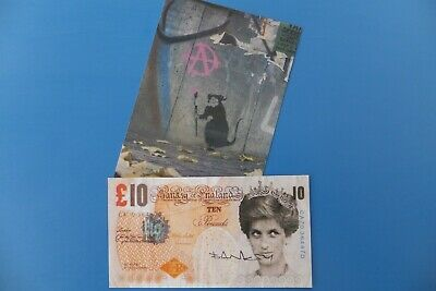 £115 • Buy Banksy Signed Tenner + Postcard From The Dismaland Theme Park 2015 WSM