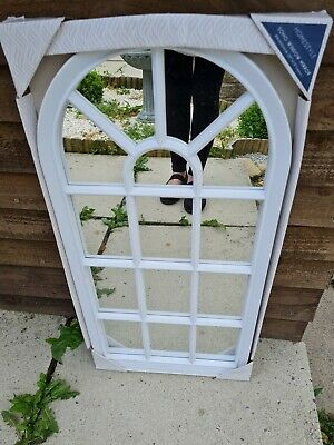 £24 • Buy Arched Window Mirror White