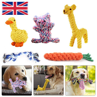 £5.98 • Buy Pet Dog Chew Toys Braided Rope Indestructible Dog Teeth Dental Cleaner Gifts UK