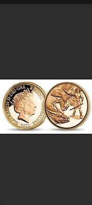 £75 • Buy Gold Plated Post Strike St George & Dragon Coin. One Full Sov Fully Minted