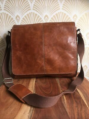 £24.99 • Buy Marks And Spencers Collezione Tan Leather Laptop Bag