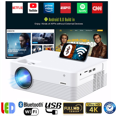 AU170.99 • Buy 4K Video WiFi Mini LED Projector 1080P Outdoor Home Movie Theater Cinema Android