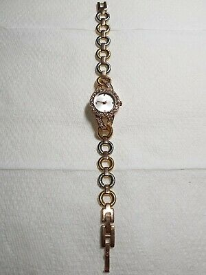 £2.99 • Buy Silver Dial Dazzle Gold Tone Watch - Elegant Beautiful And Stylish. Ladies.